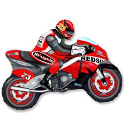 Шар 33'' (83см)  фигура     мотоцикл красный