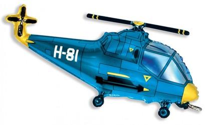 Шар 39'' (99см)  фигура     вертолет синий