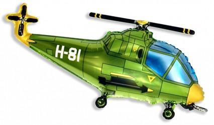 Шар 39'' (99см)  фигура     вертолет зеленый