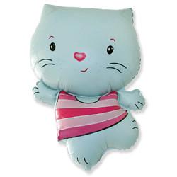 30''(76см) шар   фигура котенок голубой
