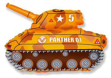 Шар 32'' (81см)  фигура     танк коричневый