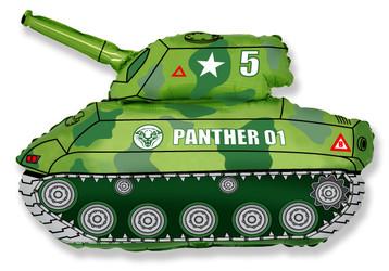 32''(81см) шар   фигура танк зеленый