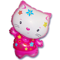 30''(76см) шар   фигура котенок в цветах фуше