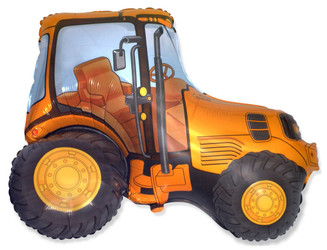 Шар 38'' (96см)  фигура     трактор оранжевый