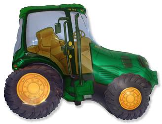 Шар 38'' (96см)  фигура     трактор зеленый