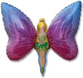 32''(81см) шар   фигура леди бабочка