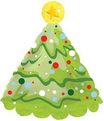 Шар 30'' (76см)  фигура     елка новогодняя зеленый