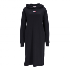 TJW LONGLINE HOODIE BADGE DRESS