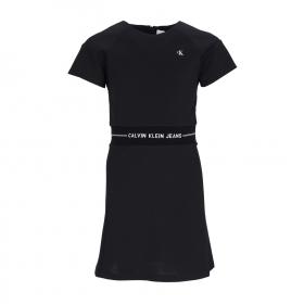 INTARSIA LOGO WAIST PUNTO DRESS