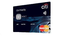 Karta do konta Citi Priority