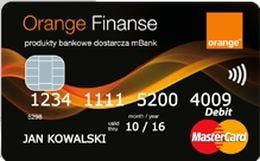 Karta płatnicza do konta w Orange Finanse