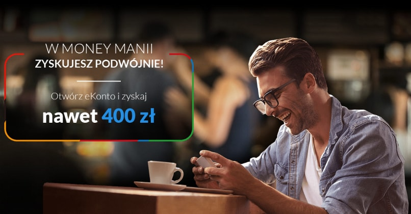 Money Mania VIII: eKonto z premią do 400 zł w mBanku