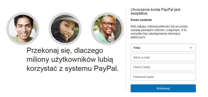 paypal rejestracja