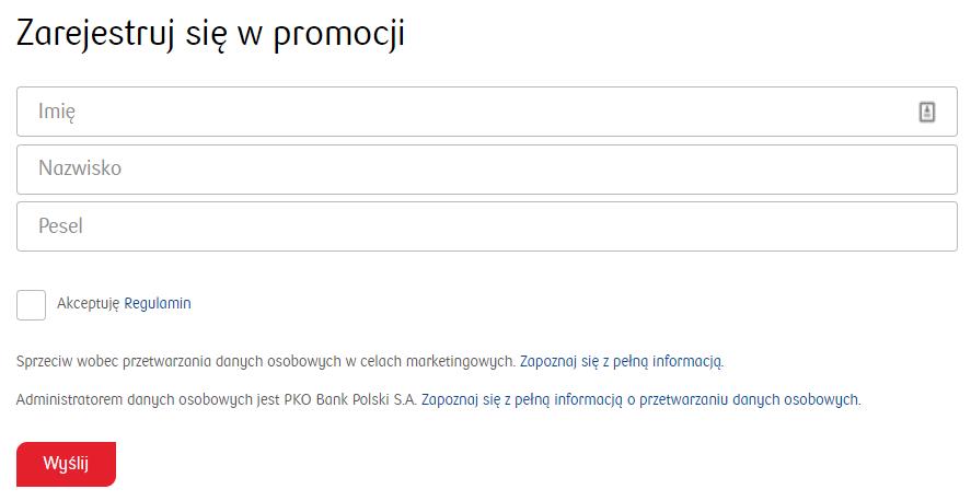"""Rejestracja w promocji """"Jeszcze wygodniej"""" od PKO BP"""
