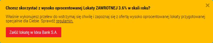 Lokata Zawrotna 3,6%