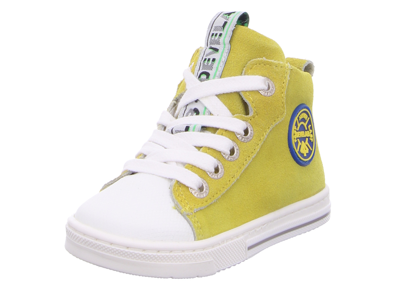 Boys Firststep Mid Cut Laces gelb kombi