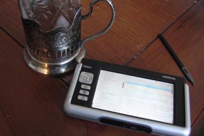Morning news on a Nokia 770