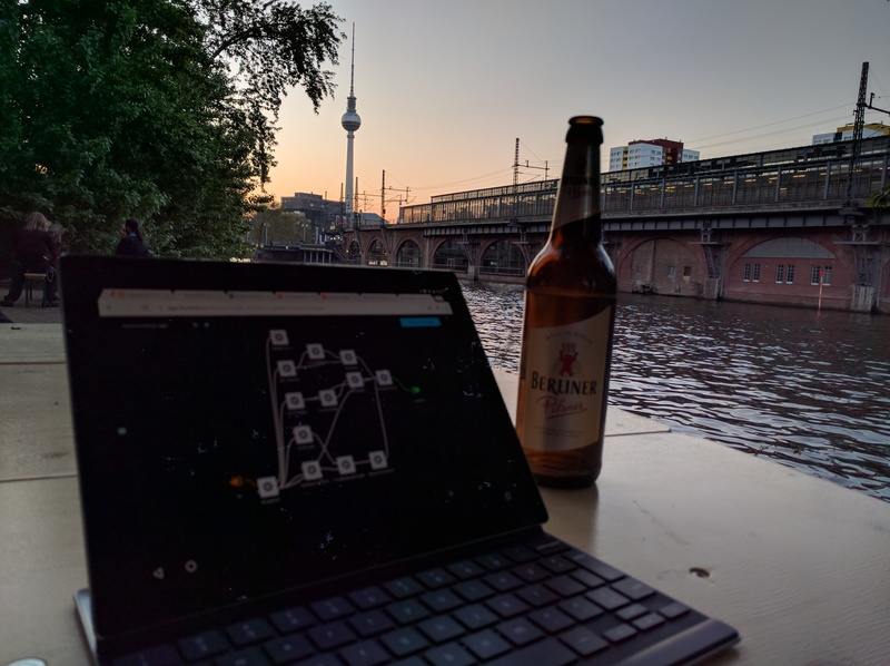 Hacking on the c-base patio
