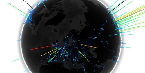 Bitcoin nodes around the world