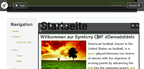 Create.js in Symfony CMF