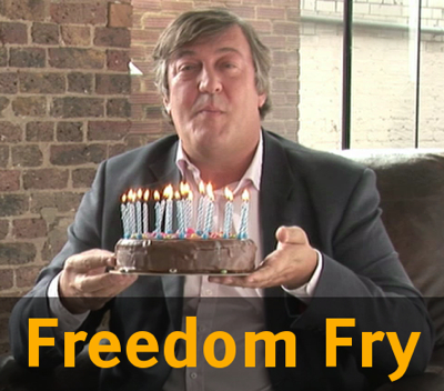 Stephen Fry on 25 years of Free Software