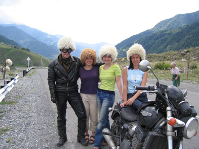 Buying hats from Georgian Military Highway