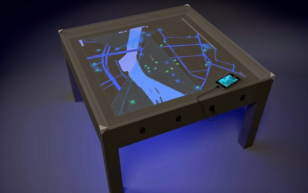 Design render of the table