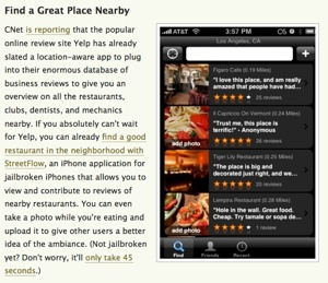 iPhone location-awareness on Lifehacker