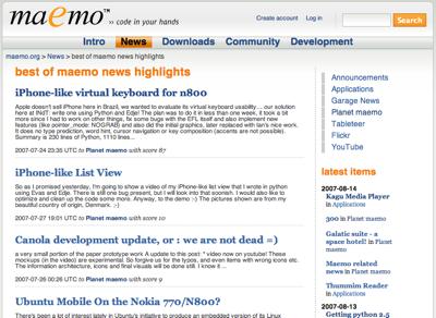 Maemo-Socialnews-Bestof