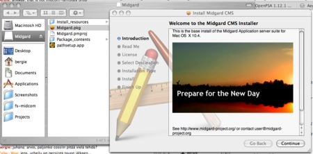 Midgard OS X installer