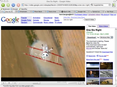 One Six Right on Google Video