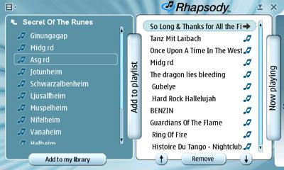 Rhapsody on the N800