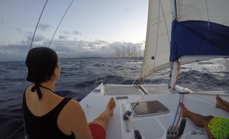 Back towards Saint Lucia