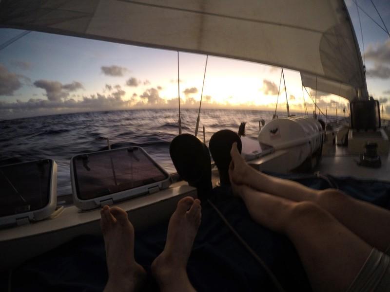 Sunset near Barbados