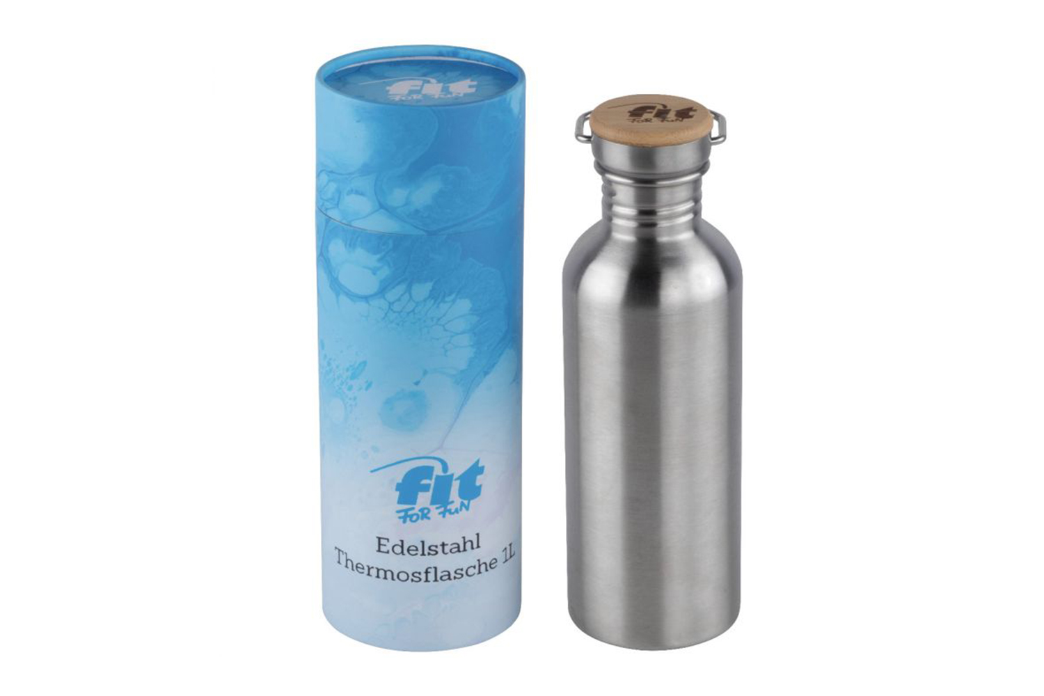Fit for Fun Edelstahl Trinkflasche