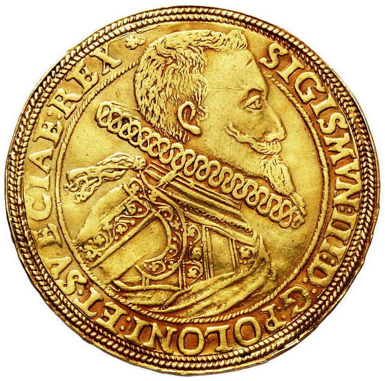 Półportugał koronny (5 dukatów) 1614, Bydgoszcz