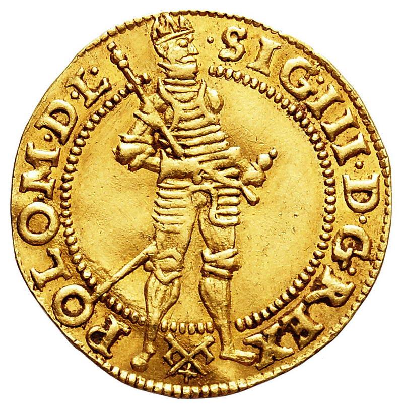 Dukat koronny ze stojąca postacią króla 1592, Poznań