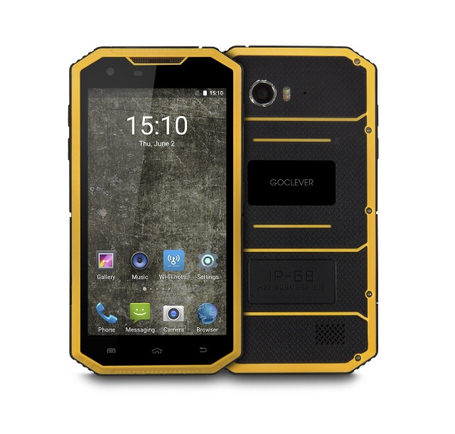 goclever quantum 5 500 rugged outdoor smartphone handy. Black Bedroom Furniture Sets. Home Design Ideas