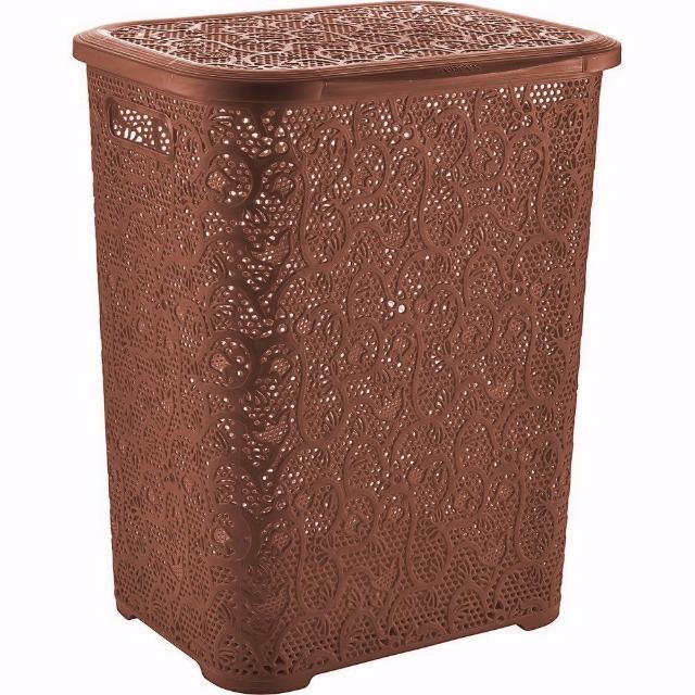 xxl 67l w schekorb w schebox w schetruhe aus kunststoff braun auf. Black Bedroom Furniture Sets. Home Design Ideas
