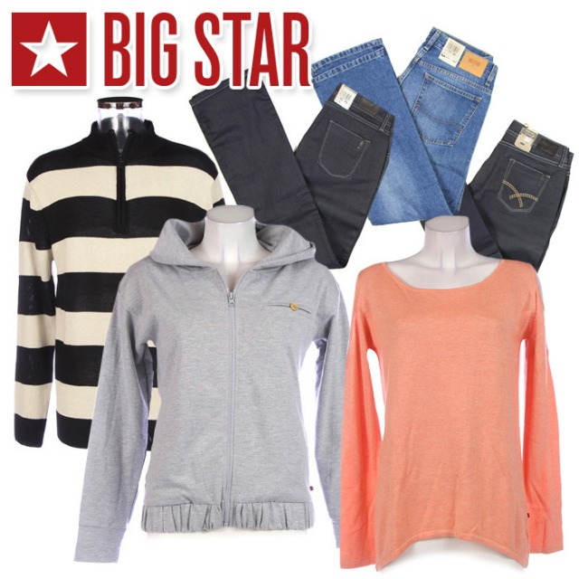 BIG STAR clothes for women and men at wholesale price