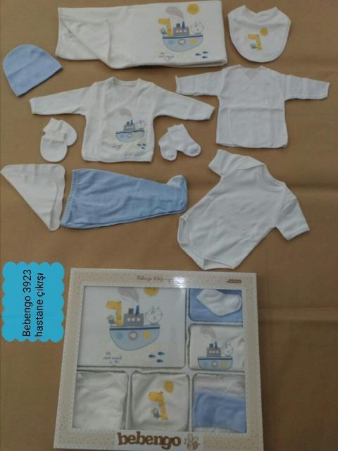Niedliche bebengo Baby-Sets in blau oder rosa, 100% Baumwolle