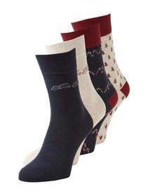 X-Mas Socken im Viererpack