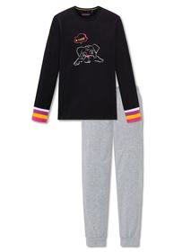 Schlafanzug lang - 000/schwarz