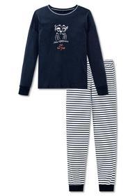 Schlafanzug lang - 804/nachtblau