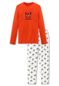 Schlafanzug lang - 602/orange