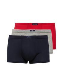 Hip Pants 3er Pack, melange-red-navy