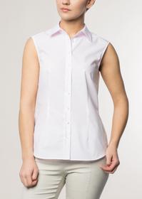 ETERNA ohne Arm Bluse COMFORT FIT rosa unifarben