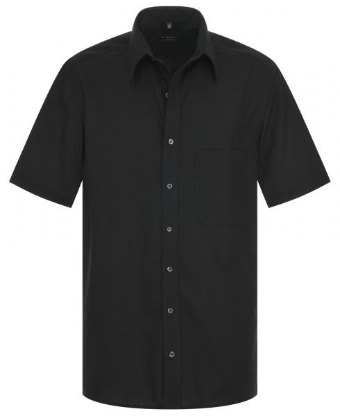 ETERNA Comfort Fit Uni Popeline Kurzarmhemd schwarz