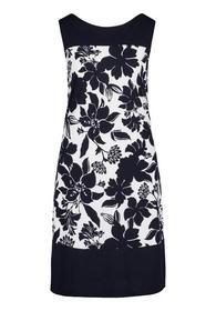 Kleid Kurz ohne Arm - 1883/Cream/Dark Blue