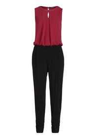Overall Lang ohne Arm, Black/Pink